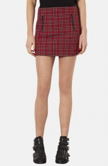 Topshop Plaid Miniskirt at Nordstrom