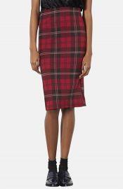 Topshop Plaid Tube Skirt at Nordstrom