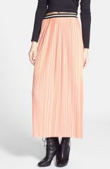 Topshop Pleated Jersey Maxi Skirt at Nordstrom