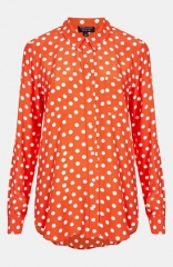 Topshop Polka Dot Dolman Shirt at Nordstrom