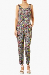 Topshop Pop Floral Jumpsuit at Nordstrom