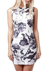 Topshop Print Body-Con Dress at Nordstrom