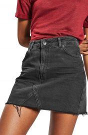 Topshop Raw Hem Denim Miniskirt at Nordstrom