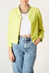 Topshop Romeo Crepe Jacket in yellow at Nordstrom