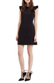 Topshop Ruffle Sleeve Body-Con Dress at Nordstrom