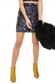 Topshop Satin Jacquard Wrap Skirt at Nordstrom