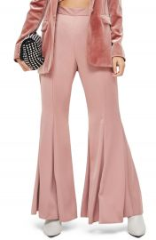 Topshop Satin Super Flare Trousers at Nordstrom