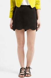 Topshop Scallop Hem Miniskirt at Nordstrom