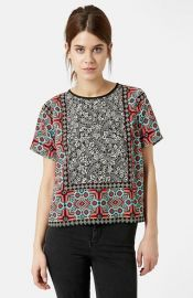 Topshop Scarf Print Top at Nordstrom