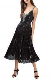 Topshop Sequin Pleated Dress at Nordstrom