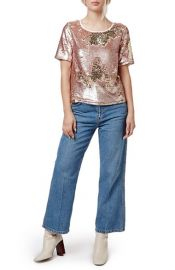 Topshop Sequin Top at Nordstrom