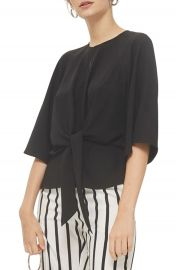 Topshop Slouchy Knot Front Blouse at Nordstrom