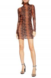 Topshop Snake Print Minidress at Nordstrom