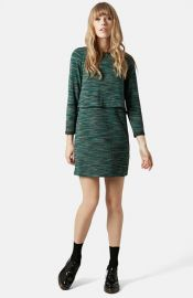 Topshop Space Dye Overlay Dress at Nordstrom