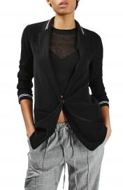 Topshop Sporty Stripe Trim Boyfriend Blazer at Nordstrom