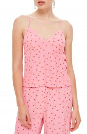 Topshop Spot Print Button Camisole at Nordstrom