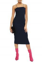 Topshop Square Neck Body-Con Midi Dress at Nordstrom