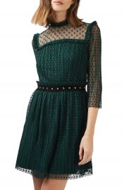 Topshop Star Mesh Skater Dress at Nordstrom