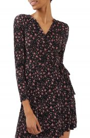 Topshop Star Pliss   Wrap Dress at Nordstrom