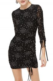 Topshop Star Print Ruched Body-Con Dress at Nordstrom