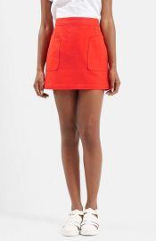 Topshop Stitch Pocket A-Line Miniskirt at Nordstrom