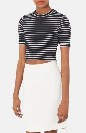 Topshop Stripe Crop Top at Nordstrom