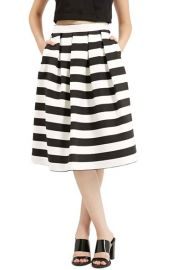 Topshop Stripe Midi Skirt at Nordstrom