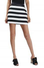 Topshop Stripe Panel A-Line Miniskirt  Petite at Nordstrom