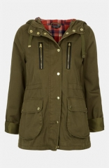 Topshop Talbot Elbow Patch Parka at Nordstrom