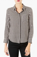 Topshop Teddy Gingham Pattern Shirt at Nordstrom