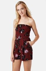 Topshop Tropical Bandeau Playsuit at Nordstrom