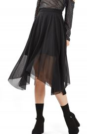 Topshop Tulle Midi Skirt at Nordstrom