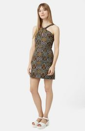 Topshop Twist Front Print Dress at Nordstrom