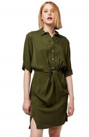 Topshop Twist Front Shirtdress at Nordstrom
