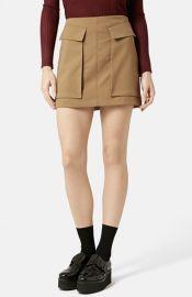 Topshop Utility Pocket Miniskirt at Nordstrom