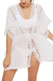 Topshop V-Neck Cover-Up Caftan at Nordstrom