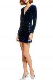Topshop Velvet Drape Dress at Nordstrom