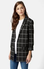Topshop Windowpane Boyfriend Blazer at Nordstrom