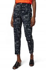 Topshop Wolf Print Cigarette Leg Trousers at Nordstrom
