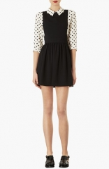 Topshop Wonder Pinafore Dress at Nordstrom
