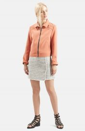 Topshop Wrap Front Boucl   Miniskirt at Nordstrom