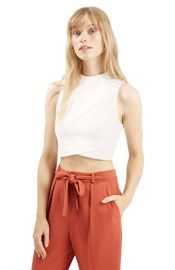 Topshop Wrap Front Crop Shell at Nordstrom