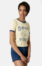 Topshop and39Good Vibesand39 Crop Tee at Nordstrom