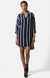 Topshop and39Granddadand39 Stripe Shirtdress at Nordstrom
