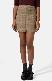 Topshop and39Tessaand39 Houndstooth A-Line Miniskirt at Nordstrom