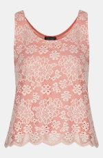 Topshop lace floral tank top at Nordstrom