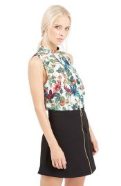 TopshopFloral Print High Neck Shell at Nordstrom