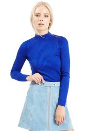 TopshopRibbedLong Sleeve Crop Top at Nordstrom