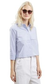 TopshopStripe Crop Shirt at Nordstrom