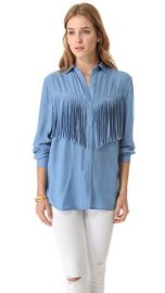 Torn by Ronny Kobo Lola Fringe Shirt at Shopbop